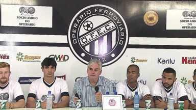 Operário apresenta sete reforços para a Série D - Direção ainda negocia com mais jogadores e deve confirmar novas contratações nos próximos dias