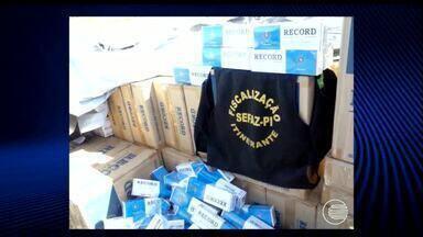 Agentes da Sefaz apreendem carga de cigarros de luxo no Litoral do Piauí - Polícia suspeita que quadrilha internacional de contrabando atue na região.Carga é oriunda do Paraguai e será incinerada pela Polícia Federal