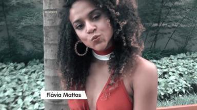 Flávia Mattos pede ajuda do público: 'Estou na luta!' - Gata dá entrevista nos bastidores do Domingão
