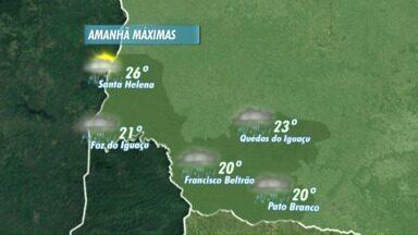 Domingo será chuvoso em Foz e região - Pode gear na semana que vem no sudoeste