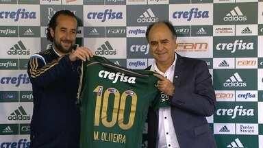 Bicampeão brasileiro, Marcelo Oliveira é apresentado no Palmeiras - Ex-Cruzeiro, técnico elogia torcida alviverde e diz mirar o tri