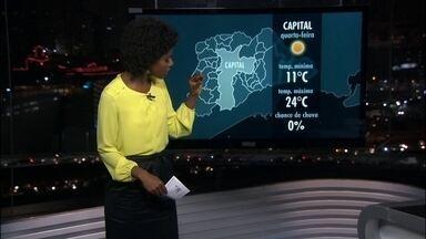 Quarta-feira (17) será de frio e névoa úmida na capital paulista - Termômetros nesta terça-feira (16): o dia começou 12,1 graus, ao meio dia fazia 16,6 às máxima foi de 18,1 , registrada às duas da tarde. Agora faz 14 graus.