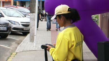 O estacionamento rotativo digital de União da Vitória vai acabar. - O anúncio foi feito pela prefeitura de União da Vitória. O contrato com a empresa que vence no começo de julho, não será renovado.