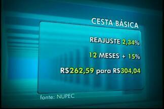 Cesta básica sobe e registra recorde de preço em Divinópolis, aponta pesquisa - Em abril, valor era de R$ 297,09. Em junho, cesta atingiu R$ 304,04. Leite, tomate e pão francês contribuíram para o aumento