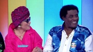 Tony Tornado chega para incrementar a bancada do Vídeo Show - Ator apareceu no programa para comentar cena emblemática com Regina Duarte em Roque Santeiro