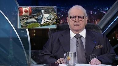 Jô abre programa de terça-feira comentando as notícias do Brasil e do mundo - Cléber Machado e Paulo Skaf são os convidados da noite