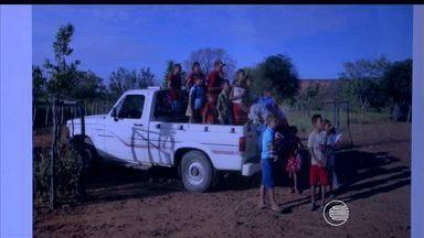 Transporte escolar de várias cidades do interior é feito em veículos irregulares - Transporte escolar de várias cidades do interior é feito em veículos irregulares