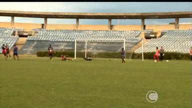 River-PI treina pela primeira vez no Albertão para o Brasileirão Série-D - River-PI treina pela primeira vez no Albertão para o Brasileirão Série-D
