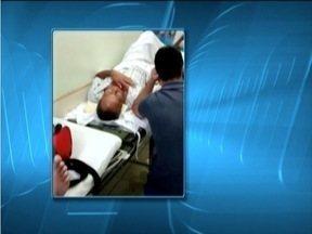 Pacientes recebem atendimentos corredor no Hospital Municipal de Valadares - Esposo de vítima registrou cenas e denunciou o caso.