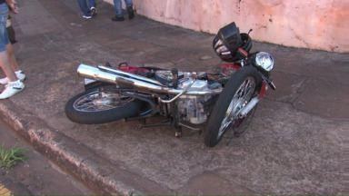 Morre motociclista vítima de acidente - O acidente foi na quinta-feira, na avenida Winston Churchill, zona Norte de Londrina e provocou manifestações de motociclistas. Igor Matheus Nogueira, de 17 anos, morreu ontem.