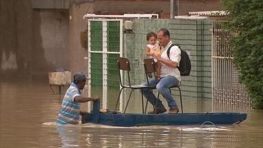 Chuvas fortes causam alagamentos e muitos transtornos na Região Metropolitana do Recife - Ruas e avenidas ficaram alagadas no Recife, em Jaboatão dos Guararapes e em Olinda.