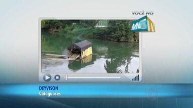 VC no MGTV: Morador denuncia extração de ouro em Cataguases - Ele cobra fiscalização da Prefeitura. Secretaria de Meio Ambiente informou que já verificou situação e que prática é legalizada.