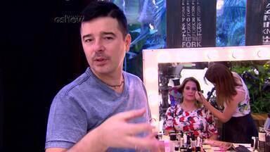 Confira o making of da produção feita em Andrea - Ela foi a estreante do quadro 'Fica, Recicla ou Doa', com Carlos Tufvesson