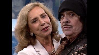 Arlete Salles foi entrevista por Alberto Roberto no 'Rostro a Rostro' - Reveja o quadro do programa Zorra Total de 1999