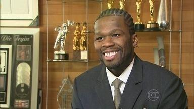 Rapper americano 50 Cent declara falência - Cantor ficou famoso por cantar o sonho de ficar milionário. Processado por divulgar um vídeo de sexo, ele teve que pagar U$ 50 milhões.