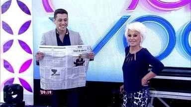 Ana Maria recebe o Mágico Klauss - Jovem mágico impressiona a apresentadora com truque usando jornal