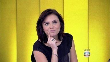 Monica Iozzi: 'Se eu não trabalhasse aqui, eu ainda estaria dormindo' - Apresentadores especulam sobre convidado especial do Vídeo Show