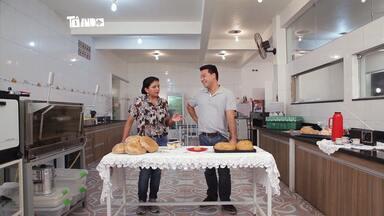 Conheça o pão de queijo gigante de Areado - Marcelo Honorato conversa com a dona Marli que herdou a receita da bisavó dela