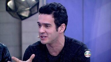 Marcos Veras comenta que a comédia é usada como terapia - Ingrid Guimarães fala que fazer humor estando triste é complicado