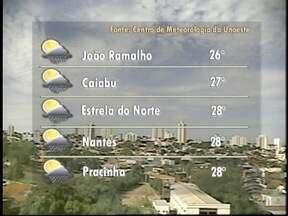 Meteorologia prevê sol durante o final de semana - Temperaturas devem ficar em 29ºC na região.