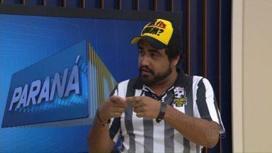 """Humorista anima estúdio do ParanáTV - Hallorino Junior, que faz o personagem """"Carmo"""", se apresenta às 20h, no Cine-Teatro Ópera, no dia 18 de julho"""