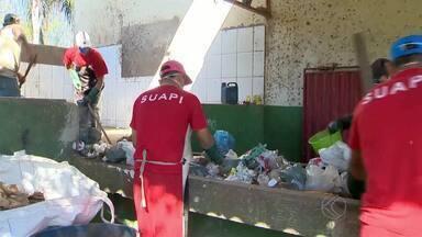 Detentos reduzem pena com trabalho em usina de reciclagem em MG - Projeto é fruto de parceria do município de São Geraldo com a Penitenciária de Visconde do Rio Branco.