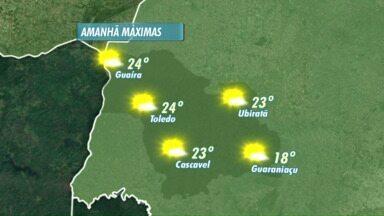 Sol deve prodominar nos próximos dias na região - Temperaturas devem ficar mais altas.