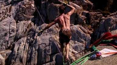 Primeiro festival de highline agita Florianópolis - Evento contou com ex-recordista mundial do esporte.