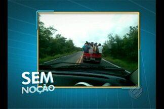 Imagens mostram imprudência no trânsito no quadro 'Sem Noção' - Confira o vídeo.