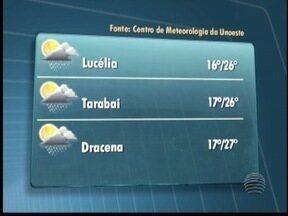 Meteorologia prevê pancadas de chuva - Veja como fica o tempo em algumas cidades.