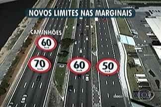 Velocidade máxima de Marginais é reduzida na capital - Multas variam de R$ 85 a R$ 574 e rendem de 4 a 7 pontos na carteira de habilitação.