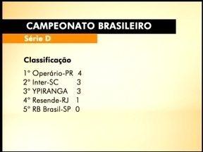 Ypiranga é 3º colocado na série D do Brasileirão - O canarinho não jogou no fim de semana, mas ficou de olho nos outros jogos.
