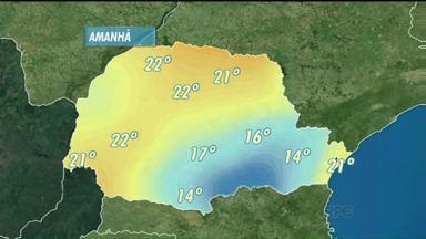 Frente fria avança pela região sul e estado deve registrar chuvas isoladas - Nos Campos Gerais e no sul do estado, algumas áreas estão alagadas após cheia de rios.
