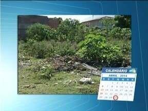 Calendário: Moradores do Bairro Santa Rita em GV reclamam de mato alto em lotes vagos - Pavimentação tamb[em é reivindicação dos moradores.