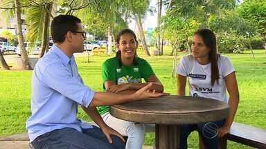 Duda e Tainá falam sobre boa fase no vôlei de praia - Duda e Tainá falam sobre boa fase no vôlei de praia