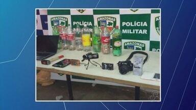Funcionário é preso suspeito de levar R$ 400 mil de agência bancária no AM - Segundo a polícia, homem também teria causado incêndio antes de roubo.Ele confessou ter levado dinheiro e devolveu metade da quantia.