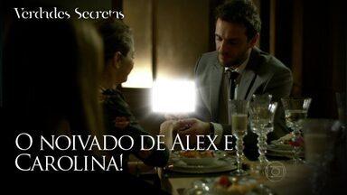 Alex faz o pedido oficial de casamento a Carolina - Empresário deixa Angel arrasada durante jantar