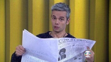 Otaviano imita Cid Moreira e Paulo Francis na abertura do Vídeo Show - Apresentador faz homenagem no dia de 90 anos do jornal O Globo