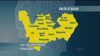 Obra em estação de tratamento deixa 26 bairros de Curitiba e região sem água - O corte no abastecimento será realizado nesta quinta-feira (30), e o reabastecimento está previsto para o fim da noite.
