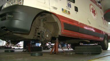 Ambulâncias do Samu Noroeste estão paradas em oficinas à espera de conserto - Os veículos, que deveriam prestar atendimento aos pacientes, ficam em oficinas mecânicas, em alguns casos por vários meses, à espera do conserto.