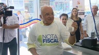 Lançada em Manaus a Nota Fiscal Amazonense - População poderá ser premiado em até R$ 50 mil.