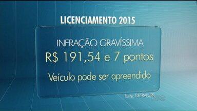Pena para PM que atrasar o Licenciamento Anual pode ser maior em Guarapuava - Deixar de pagar o Licenciamento Anual é considerado infração gravíssima pelo CTB, mas um memorando da PM quer aumentar a pena em Guarapuava.