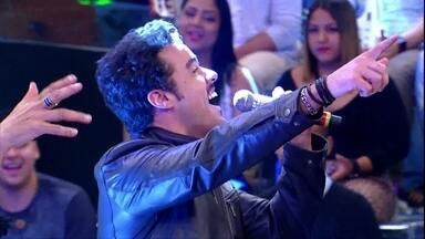 Joaquim Lopes soltou a voz no programa Esquenta - Reveja a participação do apresentador no programa