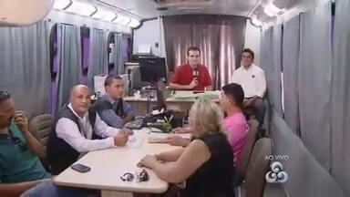 Ônibus da Justiça Itinerante atende moradores no bairro Ouro Verde, Zona Leste de Manaus - Projeto segue até o dia 18 com atendimentos a pessoas que precisam de serviços jurídicos.
