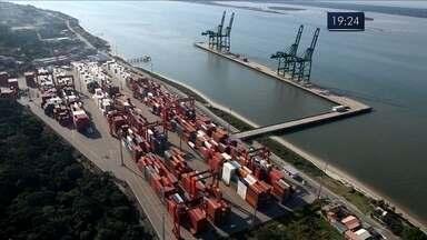 Governador e ministros anunciam investimentos em portos de SC - Governador e ministros anunciam investimentos em portos de SC
