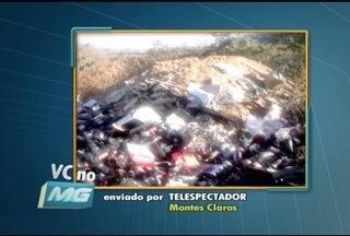VC no MG: Telespectador denuncia descarte irregular de lixo em Montes Claros - Quadro vai ao ar todas as quartas.