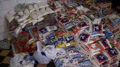 Alimentos arrecadados por empresa de bebidas são entregues à instituições filantrópicas - Cerca de 1.500 quilos de alimentos arrecadados por uma empresa de bebidas durante o Forró Caju foram entregues à instituições filantrópicas na capital,