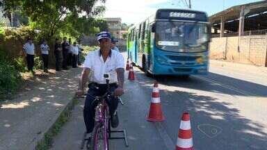 Motoristas de ônibus da Grande Vitória são treinados para respeitar ciclistas - Treinamento foi realizado em Marcílio de Noronha, Viana.