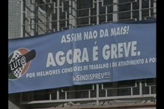 Servidores do INSS seguem em greve - Dos 15 municípios que pertencem à agência regional de Ijuí, RS, apenas três mantém as atividades.