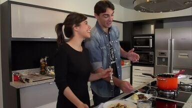 Super Chef Celebridades 2015: Miá Mello prepara peixe, enquanto Giba serve massa - Ana Maria recebe dupla na Casa de Cristal